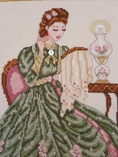 Easy Cross Stitch Patterns, Simple Cross Stitch, Cross Stitch Designs, Cross Stitching, Cross Stitch Embroidery, Embroidery Patterns, Knit Cardigan Pattern, Victorian Art, Needlework