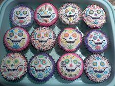 Cupcake Wars.#sugar skull cupcakes #cupcakewars