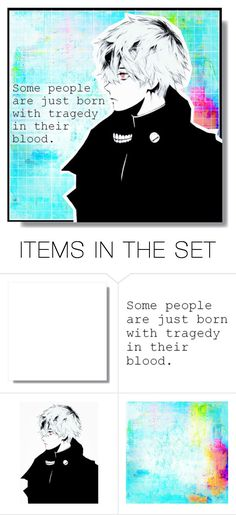 """""""тragιc◊"""" by mika-miku ❤ liked on Polyvore featuring art, anime, artset, artexpression, animeart and tokyoghoul"""