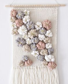 Woven tapestry wall hanging Wall hanging weaving Nursery Source by jofas Weaving Loom Diy, Weaving Art, Tapestry Weaving, Weaving Wall Hanging, Tapestry Wall Hanging, Decoration Gris, Art Decor, Weaving Projects, Macrame Patterns