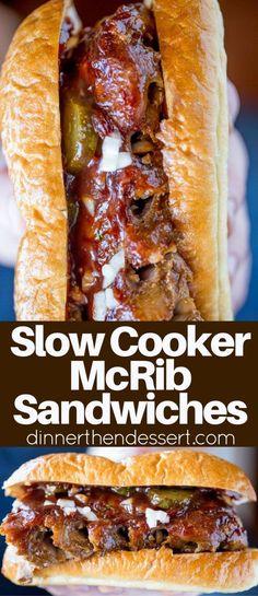 Slow Cooker McRib Sa