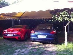 Due dei nostri gioielli su quattro ruote: una Ferrari California ed una Porsche Panamera!!!