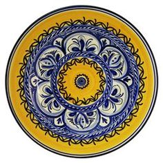 Dinnerware: Fiesta Tapas Dish for a perfect serving piece! These plates are hand-painted by artisans in Spain. #bambeco