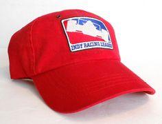vtg INDY RACING LEAGUE HAT Red White Blue IRL Car Indianapolis 500 Men/Women Cap #OutdoorCapOC