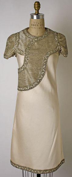 Evening Dress by Mila Schön: Italian, silk, glass & plastic, 1965-69