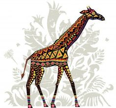 giraffe with african patterns