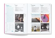 Map Magazine by studio8design.co.uk - contents page