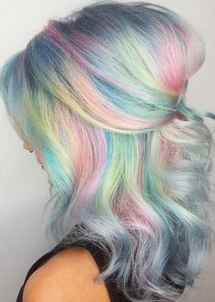 52 Cool Rainbow Pastel Hair Color Ideas for 2018