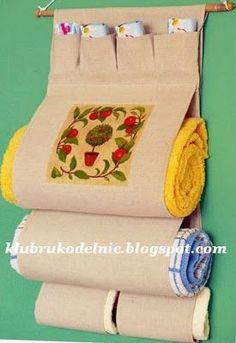 Porta toalhas de tecido
