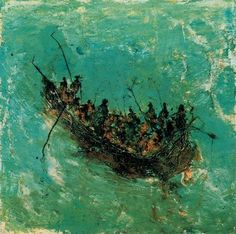 Miquel Barcelo, Unknown on ArtStack Action Painting, Boat Painting, Painting & Drawing, Watercolor Paintings, Spanish Painters, Spanish Artists, Art Espagnole, Miquel Barcelo, Gouache