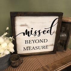 Memory Sign, Memorial Sign, Sympathy, Funeral Gift #etsy #homedecor #griefmourning #memorialsign #funeralgift