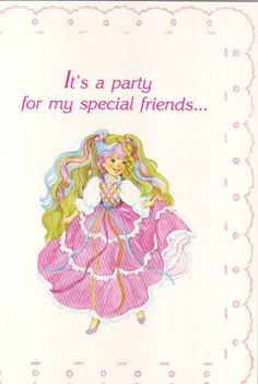 80's birthday party invite. I remember these too