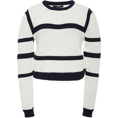 303e4594e5df66 Tibi Cropped Knit Sweater ( 350) ❤ liked on Polyvore featuring tops