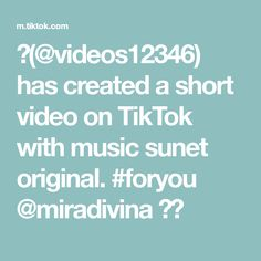 🖤(@videos12346) has created a short video on TikTok with music sunet original. #foryou @miradivina ❤️ Encouragement, The Creator, The Originals, Music, Musica, Musik, Muziek, Music Activities, Songs