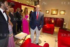 European Art Fair, Monaco, France - 19 Jul 2016  Prince Albert II of Monaco visiting Stands at the Fair  19 Jul 2016