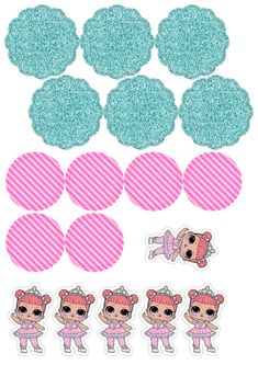 Bow Drawing, Party Cartoon, Kids Things To Do, Doll Party, Lol Dolls, Button Art, Favor Bags, Sleepover, Party Printables
