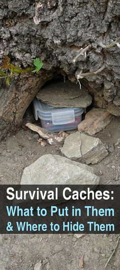 By keeping all of your survival supplies at any one location you are setting yourself up for disaster. This is where survival caches come in.