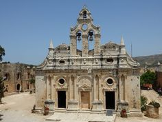 The church at Arkadi monastery in Crete