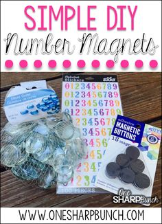 Number Magnets DIY Number Magnets - This simple DIY classroom project is perfect for your calendar and morning meeting area! Have your students use them to mark attendance or lunch count. Plus, you'll definitely want to see how we use these number rocks Classroom Attendance, Classroom Calendar, Classroom Hacks, Classroom Projects, Classroom Setup, School Classroom, Diy Projects, Classroom Design, Preschool Attendance Ideas