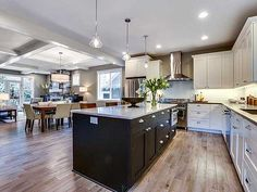 Small open concept house ideas home design plans 1500 sq ft plan for an uphill skinny Kitchen Design Open, Open Concept Kitchen, Kitchen Layout, Open Concept House Plans, Narrow Lot House Plans, Kitchen Living, Kitchen Decor, Kitchen Ideas, Laminate Flooring Prices