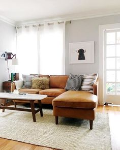 Inspirational living room update with sectional sofa Living Room Update, Boho Living Room, Interior Design Living Room, Home And Living, Living Room Designs, Living Room Decor, Bedroom Decor, Living Rooms, Living Room Furniture