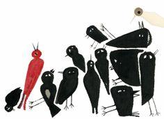 Ilustración de Javier Zabala para El pájaro enjaulado, una recopilación de las cartas que Vincent Van Gogh escribió a su hermano a lo largo de casi 20 años. La editorial Edelvives presenta este álbum como novedad en primavera de 2014.