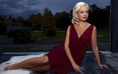 Herunterladen hintergrundbild 4k, frida fornander, fashion-models, schönheit, blond