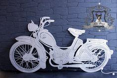 Edelstahl Wandschild nach Vorlage vom eigenem Motorrad.