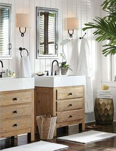 Superior Pottery Barn: Mason Reclaimed Wood Single Sink Console   Wax Pine Finish    Love This Look!