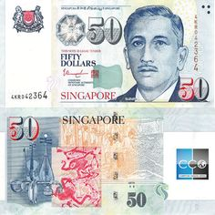 Collecters Item: Singapore 50 Dollars, With One Star, Original, Unc - Financializer Store Money For Nothing, My Money, Singapore School, Singapore Dollar, Folding Money, Singapore Photos, Dollar Money, Stamp Collecting, Things To Come
