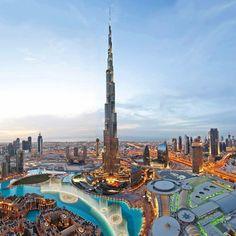 Dubai, UAE - Dubai Mall and Fountains