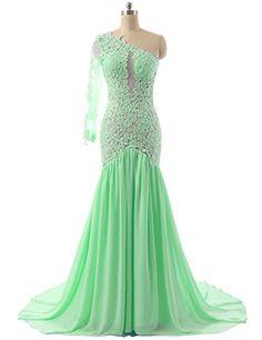 JAEDEN Women's One Shoulder Sexy Mermaid Evening Prom Dress Party Gown Mint US 2 JAEDEN http://www.amazon.com/dp/B00V5REKZ8/ref=cm_sw_r_pi_dp_o-lhvb0YJ3RRM