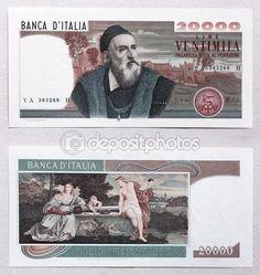 Tiziano vecellio lira banknote — Foto Stock © frizio #77946152