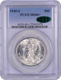 1945-S PCGS MS66+ 50c