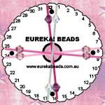 Pattern: Pink & Purple Beaded Round Kumihimo Braid