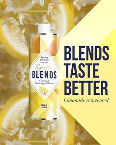 Karvan Cévitam Signature Blends. Blends Taste Better. Limonade reinvented. Probeer de verfrissende blend citroen en sinaasappelbloesem. Mix met plat of bruisend water en geef je eigen Signature. Ice Cream, Wellness, Cooking, Desserts, Lemonade, Sherbet Ice Cream, Kochen, Deserts, Dessert