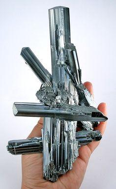 Stibnite (Antimony Sulfur). Jiujiang Prefecture, Jiangxi Province, China