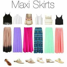 Maxii skirts