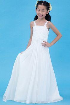 Girls Pageant Dresses, Little Girl Dresses, Flower Girl Dresses, Prom Gowns, Silhouette, Chiffon Flowers, White Chiffon, Plus Size Wedding, Elegant