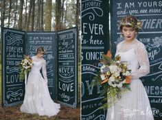 A whimsical woodland wedding. Renee Calder Design | Boutique Graphic Design & Hand Lettering | Nelson NZ and The Love Collective NZ | Photography