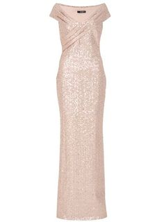 This is dummy text for sharing Product: Rose Gold Sequin Bardot Maxi Dress  with link