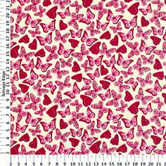 M'Liss Violet Butterflies on Cream Cotton Fabric by M'Liss Rae Hawley, via Flickr