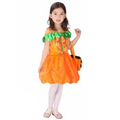Girls Dream Princess Halloween Fluff Pumpkin Dress Party Costume Accessories