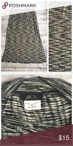 BCX Black & White Static Stripe Maxi Skirt ✨ NWOT - BCX Black & White Static Stripe Long Maxi Skirt. 100% Rayon. Elastic waist. Great for Birthday, Anniversary, Gift, Present, Vacation, Cruise, Wedding, Pool, Cover Up, Date, Night, Spring, Summer, Winter, Sexy, Party. BCX Skirts Maxi