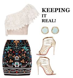 """""""Keeping It Real"""" by jstylelife on Polyvore featuring Marni, Miguelina, Christian Louboutin and Louise et Cie"""