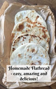 Homemade flatbread - quick, easy and brilliant.... | The Diary of a Frugal Family Easy Flatbread Recipes, Quick Bread Recipes, Frugal Meals, Easy Meals, Frugal Family, Pasta, Burger Buns, Cooking With Kids, Kid Friendly Meals