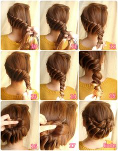twisted updo hair tutorial