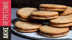 Μπισκότα βουτύρου με γέμιση πραλίνα σοκολάτας| Kitchen Lab by Akis Petre...