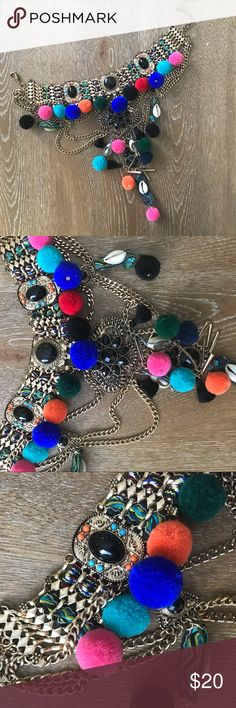 Pom Pom Choker Necklace Super fun Pom Pom choker necklace by Aldo! Aldo Jewelry Necklaces