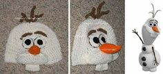 DISNEY CUSTOM CROCHETED Boutique FROZEN OLAF Beanie Hat (Product Front) SOMEONE MAKE THIS FOR ABBY